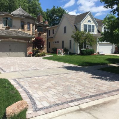 Arlington Heights Hardscaping with Driveway Brick Paving