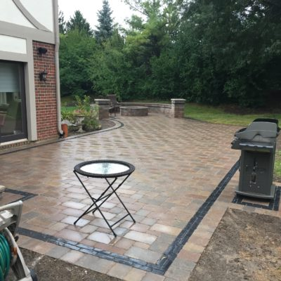 Brick Pavers Rolling Meadows IL: Custom Brick Driveway and Fire Pit