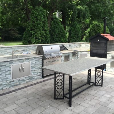 Brick Pavers Itasca IL: Custom Brick Patio and Outdoor Kitchen